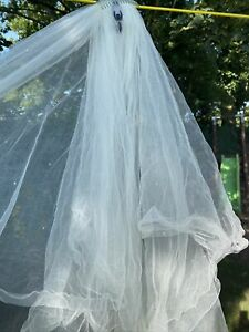 Joyce Jackson Two Tier Bridal Veil With Swarvoski Crystals 8ft Long Cathedral