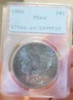 1886 PCGS MS64 DEEP DARK FULLY TONED GEM! MORGAN SILVER DOLLAR (Rattler)
