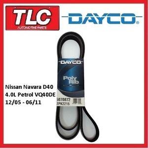 Dayco Fan Belt Nissan Navara D40 4.0 Petrol VQ40DE 12/05 - 06/11