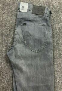 New Lee Straight  Darren Stretch Jeans Denim Grey Mens W32 L32 #602