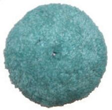 "Presta 890085WD 7-1/4"" Green Blended Wool Light Cutting/Polish Pad"