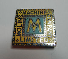 Enamel Badge Off A Mollins Cigarette making Machine Art Deco Style 4 cms