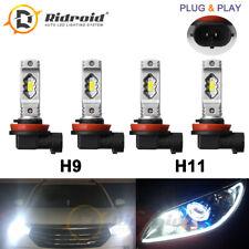 4X LED Headlight Combo Bulb High Beam H9 Low Beam H11 Total 120W 6000K White