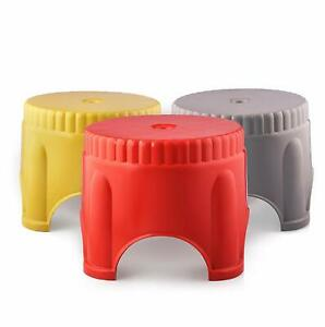 Strong Mini Round Plastic Mini Stool for Home & Office ( Set of 3 ) US