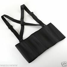 Heavy Duty Lift Lumbar Lower Back Waist Support Belt Brace Suspenders for Work