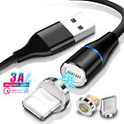 Magnetic 3A Fast Charging Cable Type C Micro USB Data Sync Cable For Samsung S20