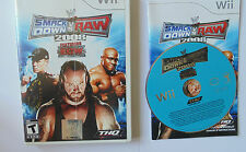 WWE SmackDown vs. Raw 2008 Featuring ECW (Nintendo Wii, 2007) complete