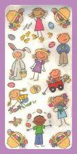 *EASTER KIDS*Mambi JUMBO STICKER Sheet GIRLS BOYS BUNNIES EASTER BASKET EGGS HTF