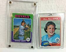 George Brett Lot of 2 Topps 1975 Rookie mini #228 & 1981 #700 KC Royals