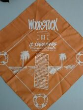 Woodstock II 12 Iowa Bands At Clearwater Beach 1987 Bandana Lot of 2