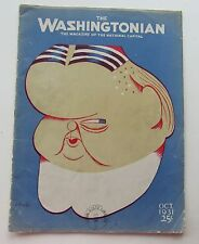 Rare The Washingtonian Magazine Herbert Hoover Cover by Battaglia c Oct 1931