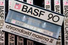 BASF CR-M II 90 HIGH BIAS TYPE II BLANK AUDIO CASSETTE - GERMANY 1985