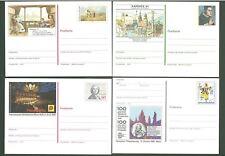 Stationery An14 Postcard Germany 1983-1989 Art Music Below face (4 pcs)
