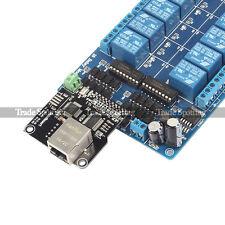 SainSmart Ethernet Control Module LAN WAN WEB Server RJ45 Interface 16 Chs Relay