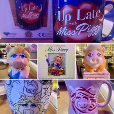 Muppets Miss Piggy Mug Lot & Cookbook: Applause, Sigma Tastesetter W/ Boxes New!