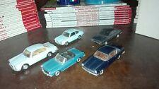 Lot 1/43 fiat 850 coupè, 1500 cabrio, 2300 s - lancia beta coupè, flavia coupé