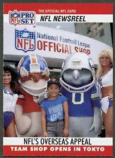 "NFL Cheerleaders, ""Team Shop Opens In Tokyo"", 1990 Pro Set Football Card #789"