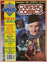 DOCTOR WHO CLASSIC COMICS #2 ~ VF 1993 MARVEL UK MAGAZINE ~ POSTER INTACT