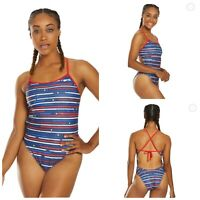 NIKE Womens Size 10 One Piece Swimsuit Americana Crossback Cut Out One Piece NEW