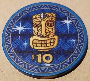 TIKI KINGS Ceramic Poker Chip Keramik Pokerchip ULTRA RAR $10, NEUWERTIG