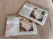 2 Fieldcrest Charisma 310 Count Supima Cotton Imperial Stripe Euro Pillow Shams