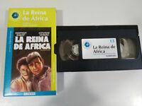 La Regina de Africa Bogart Hepburn Huston VHS Cassetta Cartone Castellano Mondo