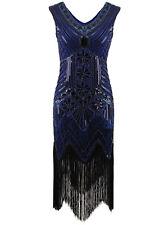 1920's Flapper Dress Gatsby Charleston Sequin Fringe Party 20s Costume Plus Size