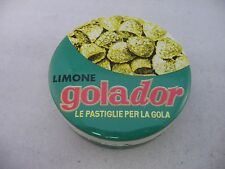 Vintage Candy Tin Metal Box Made Italy LIMONE GOLADOR Le Pastiglie Per La Gola
