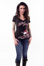 LETHAL ANGEL BLACK RED ROSE SKULL EMO GOTHIC EMILY THE STRANGE T-SHIRT 8 10-16
