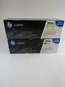 NEW HP 304A LaserJet TONER Cartridges CC532A - Yellow, CC533A - Magenta