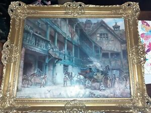 The Departure painting print by F M Bennett