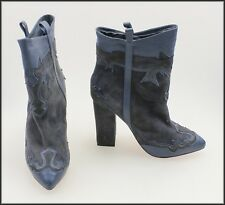 HELLO MIDNIGHT SKIN WOMEN'S HIGH HEEL ANKLE FASHION BOOTS SIZE 5, 36 EURO NEW