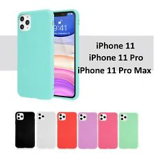 iPhone 11 Pro Max Case Clear Soft Thin Silicone Red Pink Mint TPU Cover