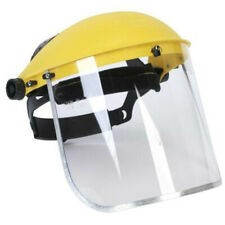 Safety Protective Mask Clear Head-mounted Face Eye Shield Screen Grinding Helmet