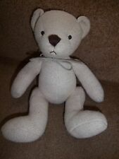 GOLDEN LIGHT BROWN SILVER CROSS TIMBLE TEDDY BEAR BABY SOFT TOY