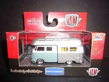 Volkswagen Double Cab Camper Bus Blue 1/64 M2 32500-MJS04 LTD 2,000 pcs