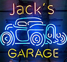 "New Custom Name Garage Neon Light Sign 24""x20"" Lamp Poster Real Glass Beer Bar"