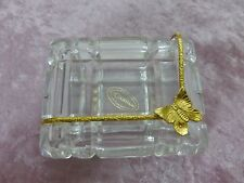 Glass trinket box butterfly Italy courtenay candy box