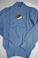 MONTE CARLO Pullover NOS Nerd True Vintage 70er blau 80er 46 sweater 70s blue