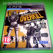 THE HOUSE OF THE DEAD OVERKILL VERSION EXTENDIDA NUEVO PRECINTADO PAL ESPAÑA PS3