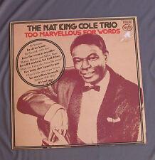 "Vinilo LP 12"" 33 rpm THE NAT KING COLE TRIO - TOO MARVELLOUS FOR WORDS"