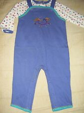 BNWOT SIMPLY BASIC embroidered overall set, 18mo