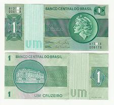 billete Brasil  sin circular plancha billete mundial un cruzeiro verde