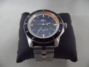 Genuine Lacoste 2010701 Men's XL Blue and Orange Bracelet Watch RF4942