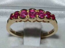 High Quality Solid 9ct Gold  Natural Ruby Contemporary StyleEternity Band Ring