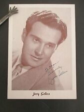 Singer JERRY SELLERS Inscribed & Signed Photo