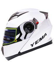 NIB YEMA Helmet YM-925 Dual Visor Modular Flip up Motorcycle Helmet-White SMALL