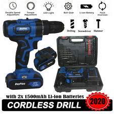 21-Volt Hammer 2 Speed Electric Cordless Drill/Driver with Bits Set &2 Batteries