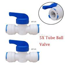 """5xTube Ball Valve Durable Item Quick Connect Fitting 1/4"""" Plastic Easy Practical"""