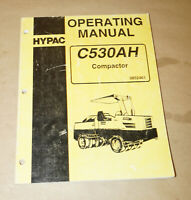 1996 Hyster Model C530AH Compacter Owner's & Operator's Guide P/N 0852461